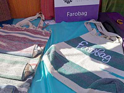 Bolso de Farobag bordado con texto