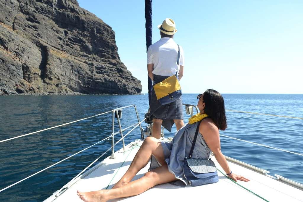 Bandolera cuadrada ybandolera doble solapade la serie Canary Beach