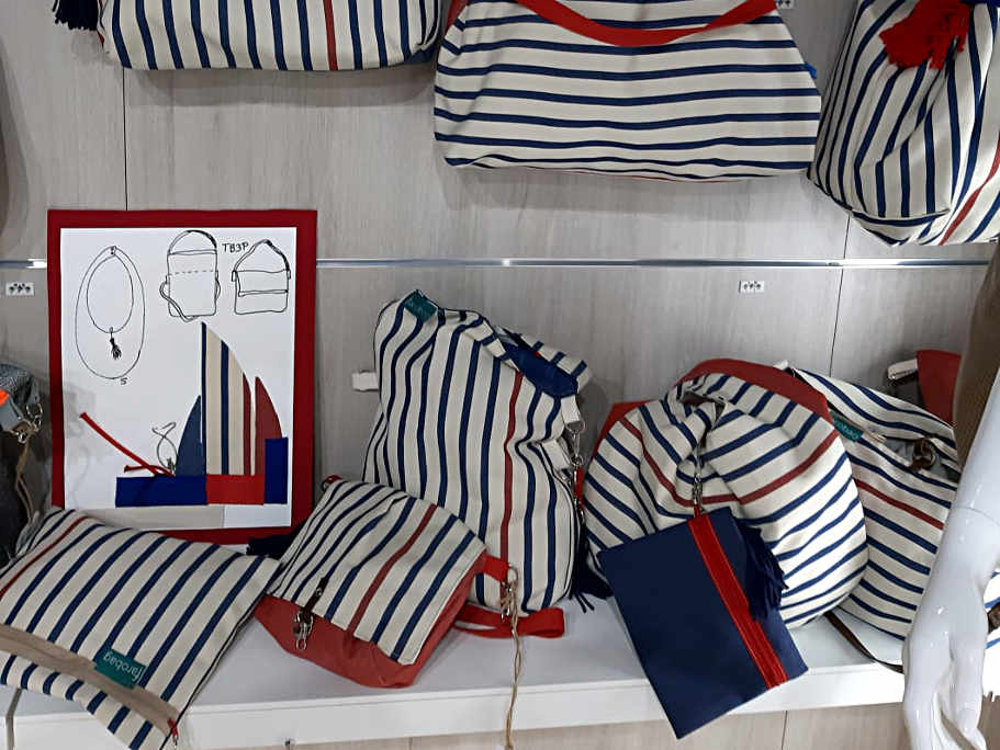 Bolsos del tela de la serie Atlántico de Farobag en MOMAD