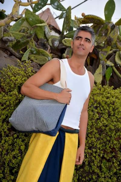 Citybag y sarong de la serie Canary Beach
