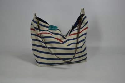Citybag con asa cuero de la colección Atlántico