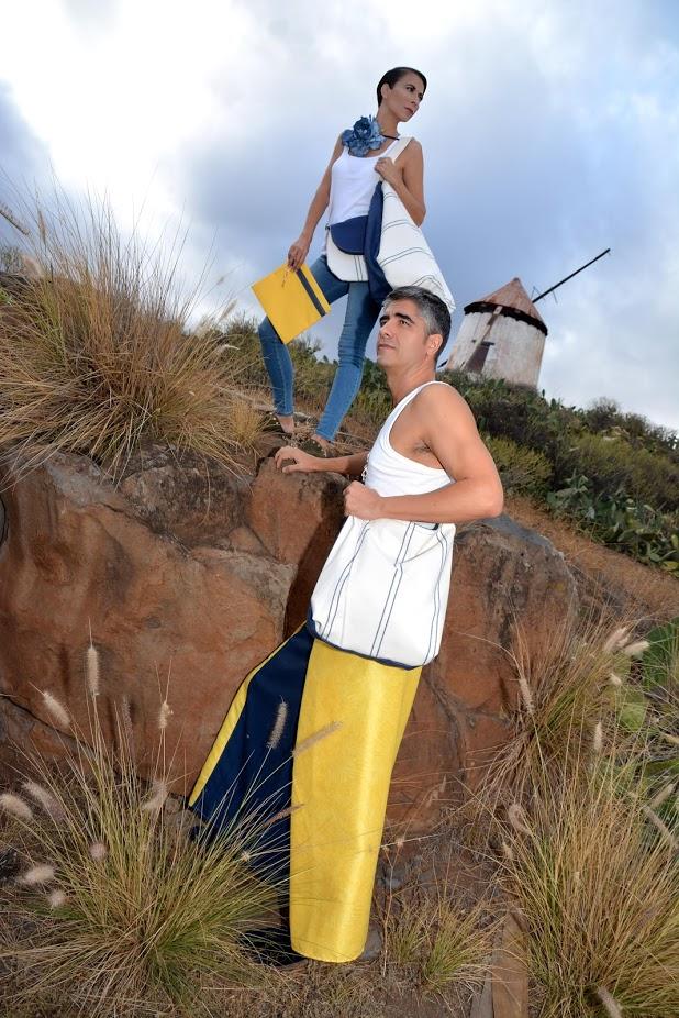 Totebag, beachbag y sarong de la serie Canary Beach