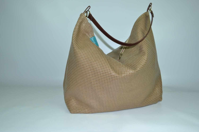 Beach Bag con asa de cuero Arenas del Desierto