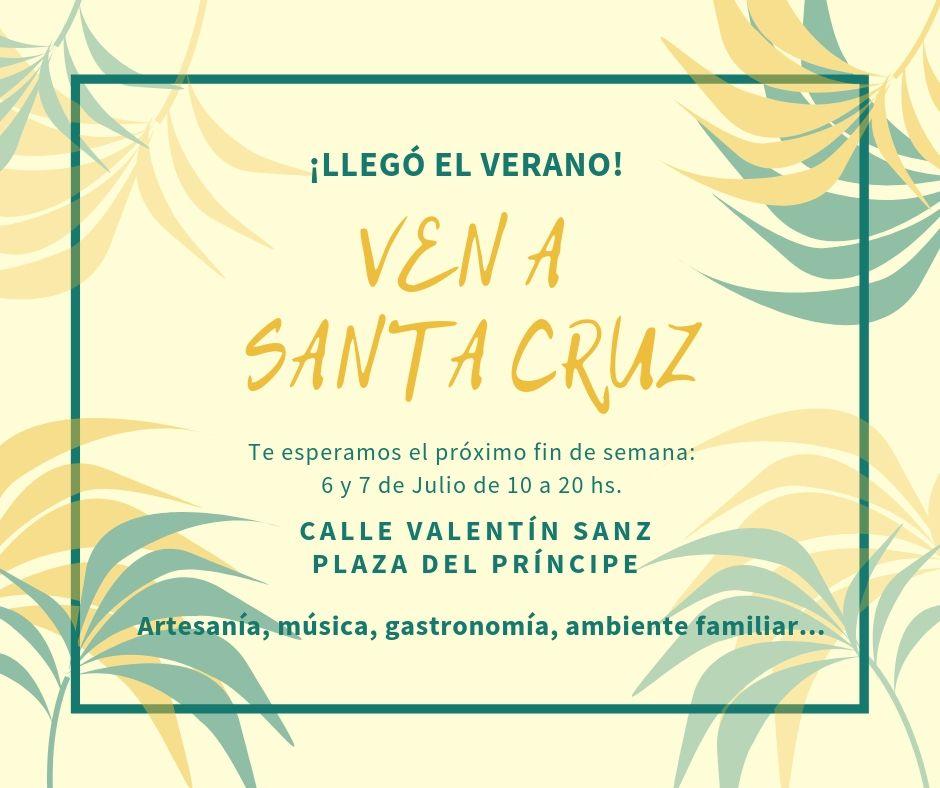 Cartel Ven a Santa Cruz Julio 2019