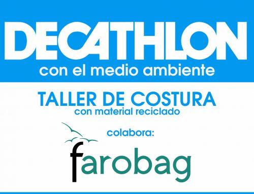 Taller de costura con material reciclado con Decathlon