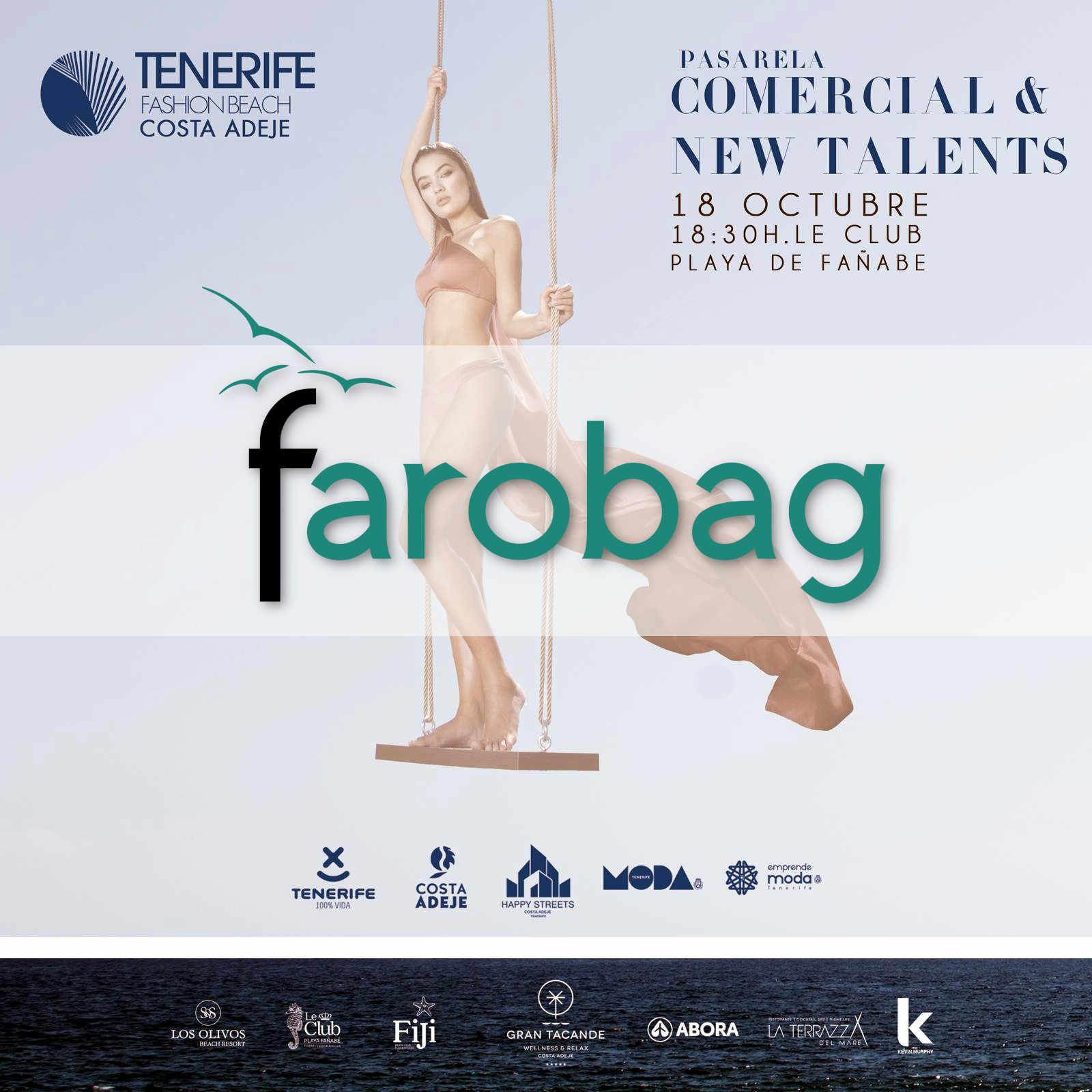 Cartel de la pasarela comercial de la Tenerife Fashion Beach Csta Adeje