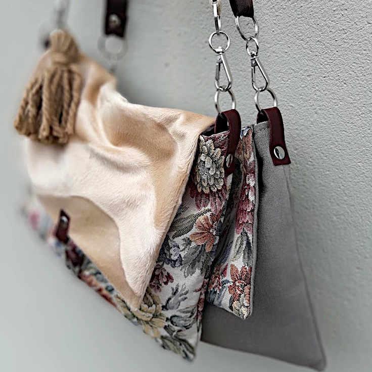 Bolso de tela de la serie Mambo modelo bandolera cuadrada