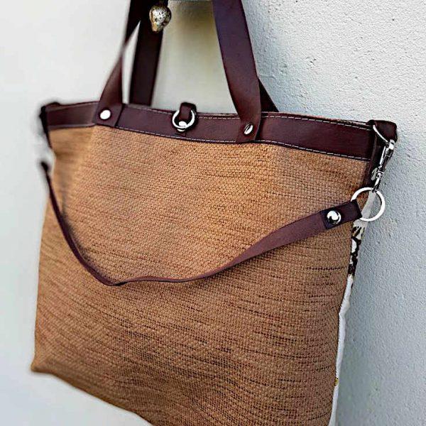 Bolso de tela tipo citybag de la serie Mambo
