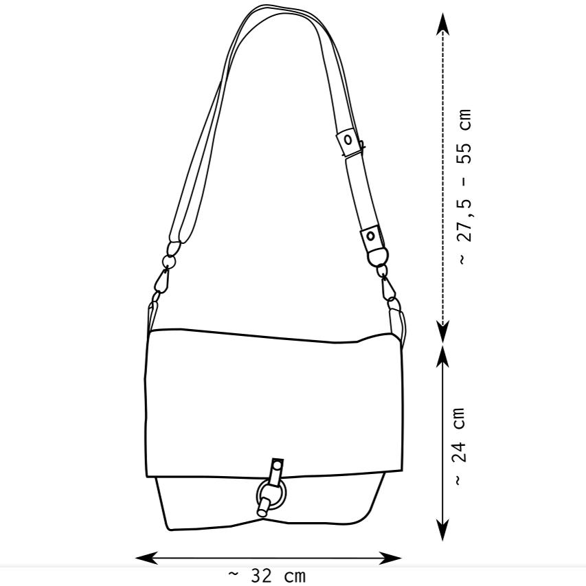 Diagrama de la bandolera cuadrada de Farobag