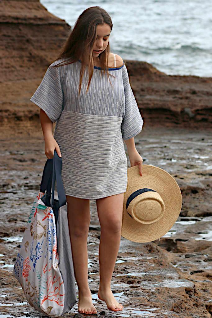 Modelo con vestido Isa de Farowear