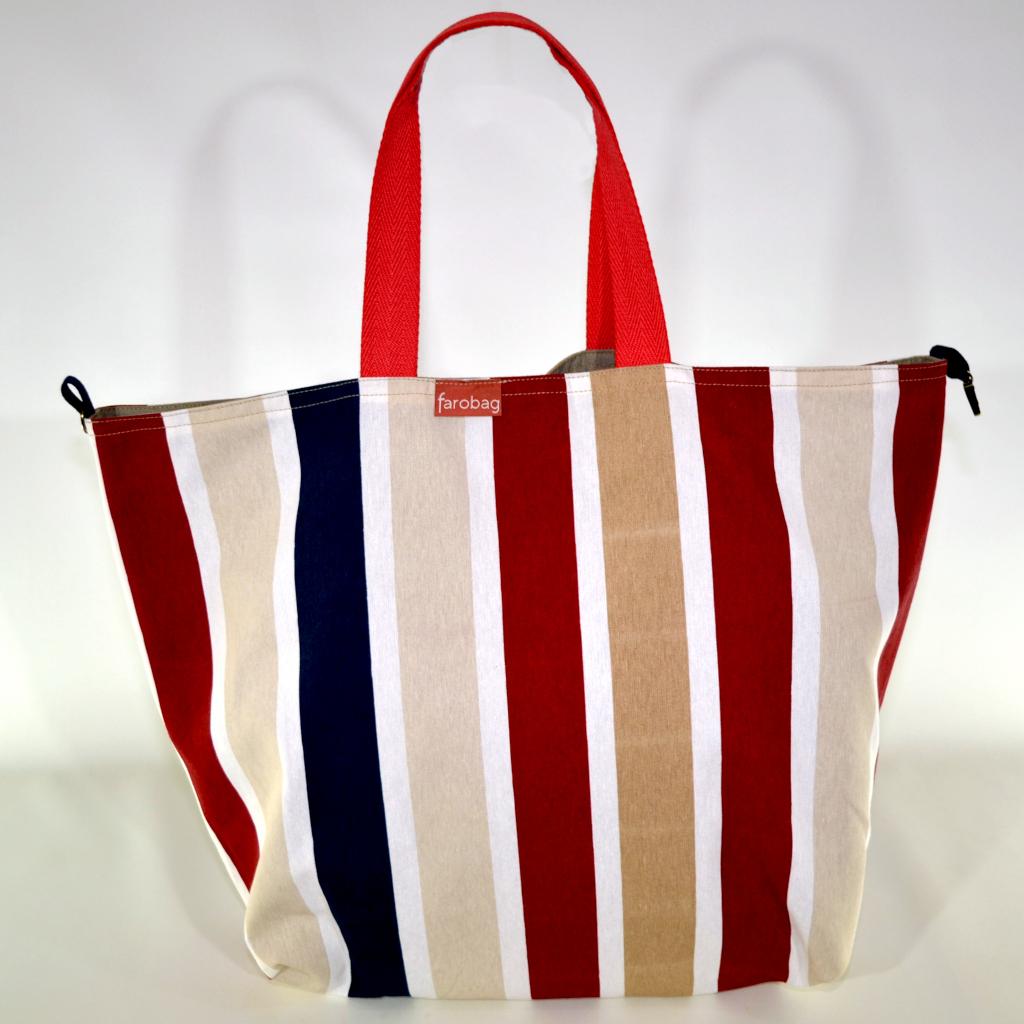 Beach Bag grande de tela de la marca Farobag