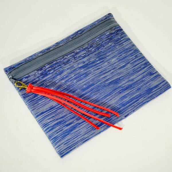 Neceser azul de la serie Alba de la colección de verano 2021 de Farobag