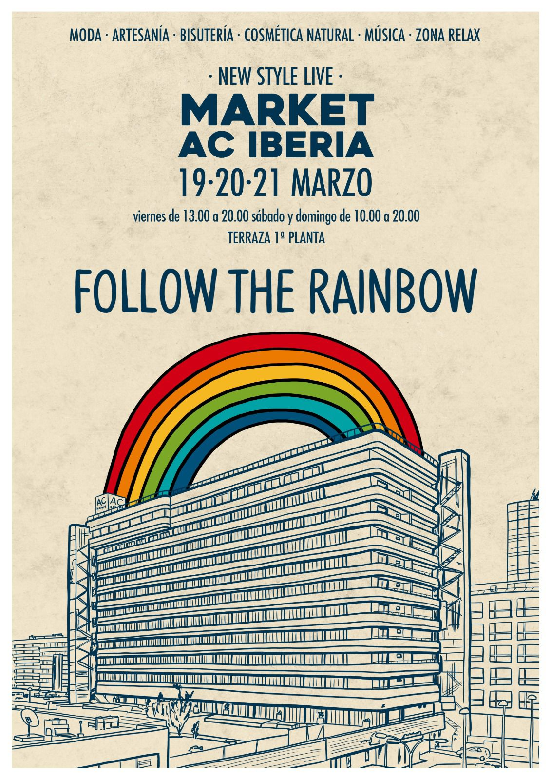 Cartel del evento Mercadillo Follow the Rainbow en Hotel Ibreria Las Palmas
