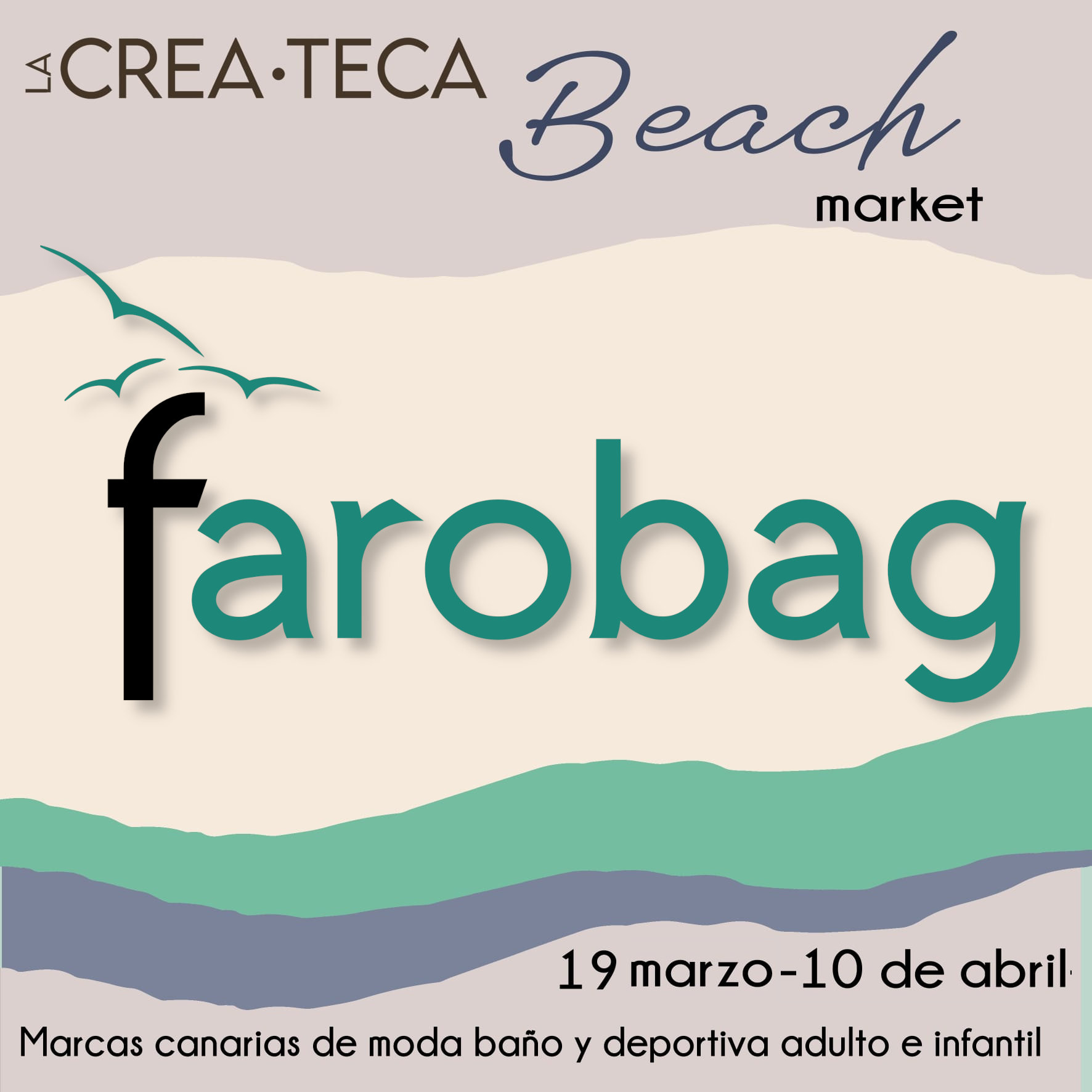 Cartel Beach Market La Createca - Santa CRuz